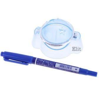 OMG Marker ลูกกอล์ฟ พร้อมปากกาเมจิกสีน้ำเงิน สำหรับขีดเส้นลูกกอล์ฟ