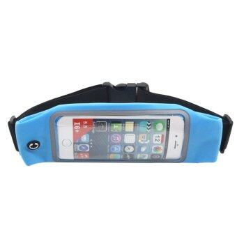 Outdoor sport Touch screen With the headset hole waist pocket for iphone 6plus/6splus(Sky blue) - INTL