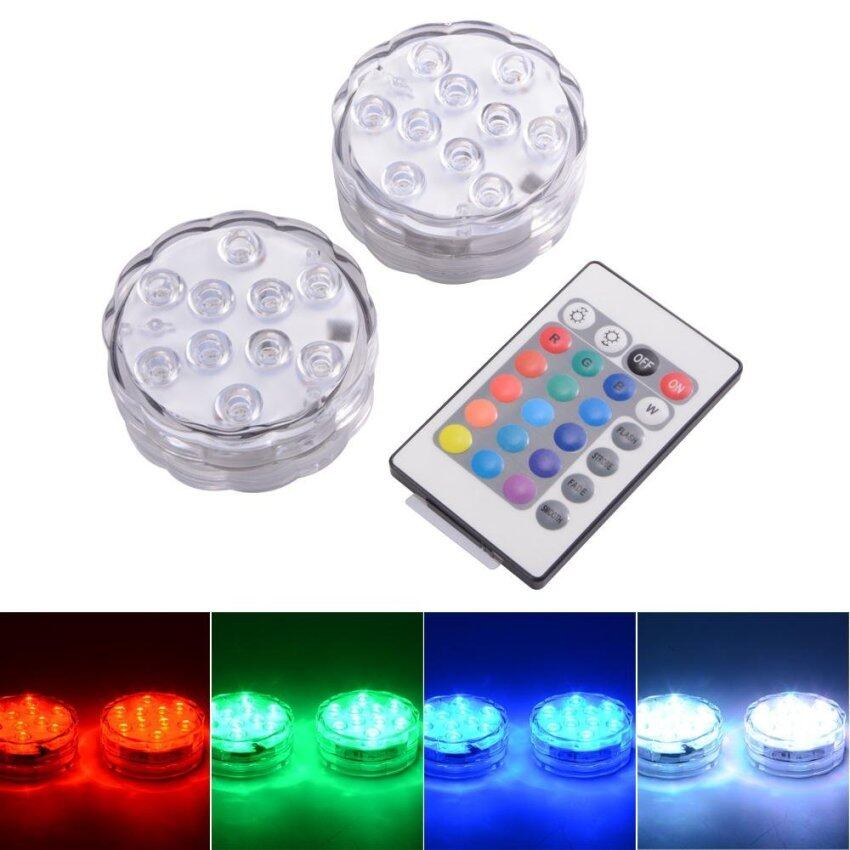 Perfect 10 LED RGB Color Waterproof Reusable Submersible LED Light LD842 - intl