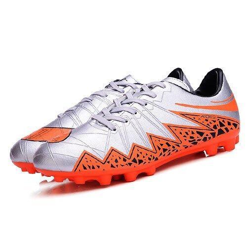 สุดยอด PINSV Synthethic Leather Men's Fashion Sport Shoes Football Shoes(Grey) (Intl) ซื้อเลย