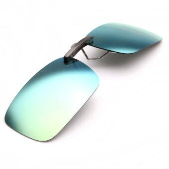 Polarized Clip On Sunglasses Sun Glasses Driving Night Vision Lens (Intl)