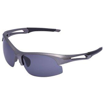 Polarized Sports Sunglasses for Running Cycling Fishing Golf Tr90 Unbreakable Frame (Grey Frame Grey Lens)