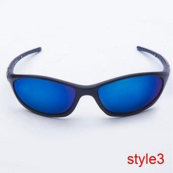 Polarized Sunglasses Mens Sport Cycle Fish Golf Outdoor Eyewear Dark Grey (Intl)