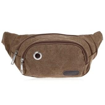 กระเป๋าสตางค์กระเป๋าเป้เดินป่าเอวเพศเงินก้นกระเป๋ากีฬา (กาแฟ)