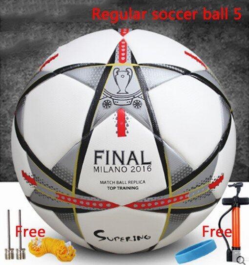 Regular soccer ball 5 Seamless thermal bonding football Soft leather PU football Indoor soccer Outdoor soccer Soccer Football - Intl