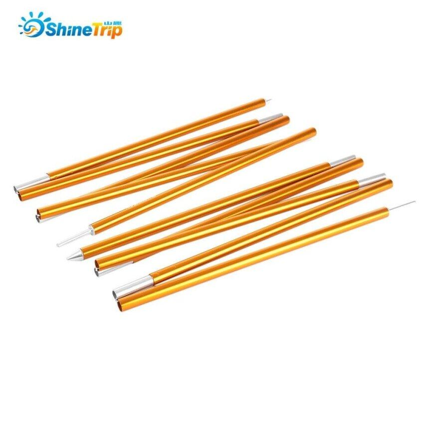 Shinetrip 2Pcs Camping Trekking Hiking 7075 Aluminum Alloy Tent Pole Support Sunshelter Awning Rod Accessory(Golden) - intl