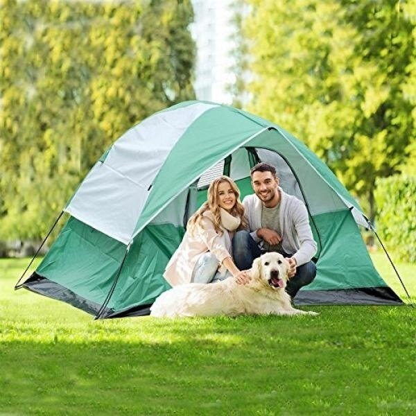 ShinyFunny Waterproof 2-3 Person Double Layer Camping Tents ,Family Camping Tent for Backpacking with Carry Bag, Large D-shape Door and Rainfly - intl