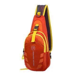 กระเป๋าสะพายไหล่กันน้ำ กระเป๋าคาดอก Shoulder Bag รุ่น D02 (สีส้ม) 1ใบ