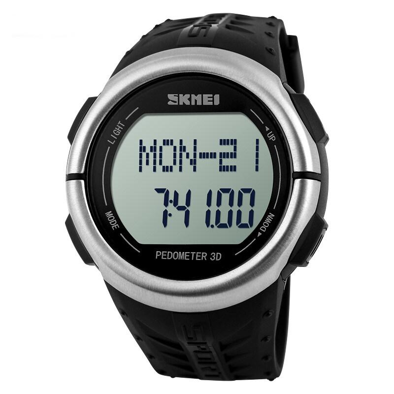 แนะนำ SKMEI LED Digital Pedometer Calories Counter Running WristwatchesBlack ลดราคา