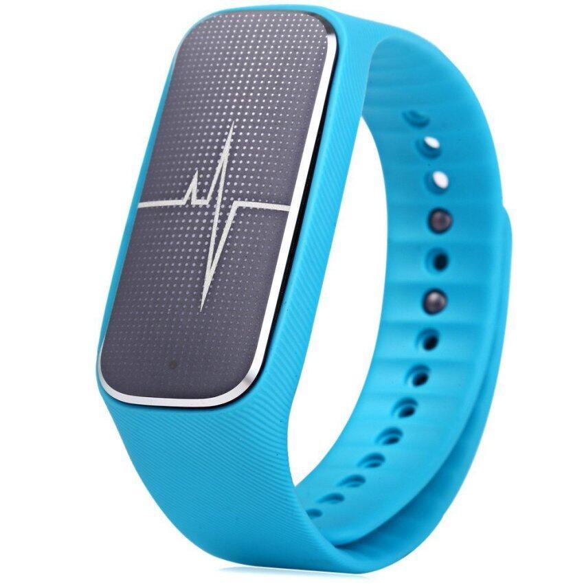 แนะนำ Smart Wristband with Heart Rate Monitor Sleep Sports Tracker (Blue)- INTL ลดราคา
