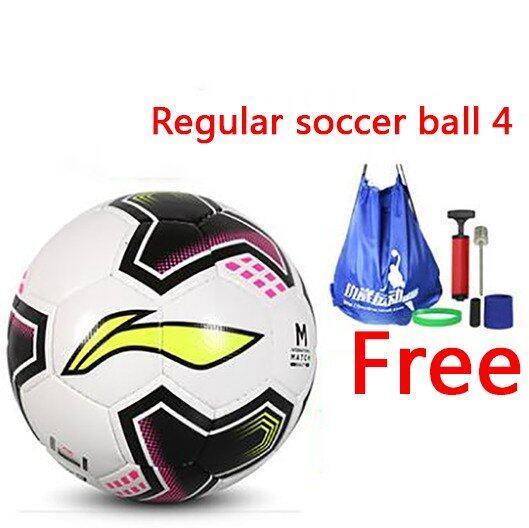 Soccer Football PU hand sewn football Training football Indoor soccer Outdoor soccer Regular soccer ball 4 - Intl