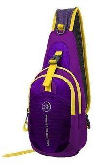 SportlifeOnline กระเป๋าสะพายไหล่กันน้ำ กระเป๋าคาดอก รุ่น D02 - สีม่วง