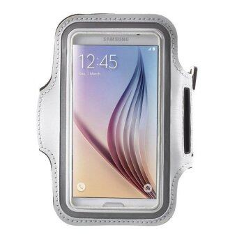 Sports Running Armband for Samsung Galaxy S6 Edge White - Intl
