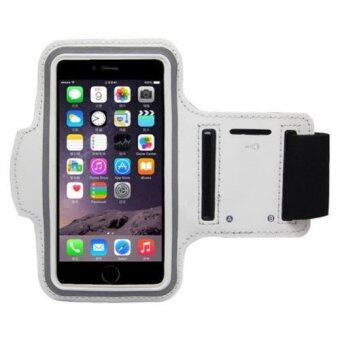 Sports Running Case Arm Bag Band for Samsung Note3 Note4 Note5 (White)
