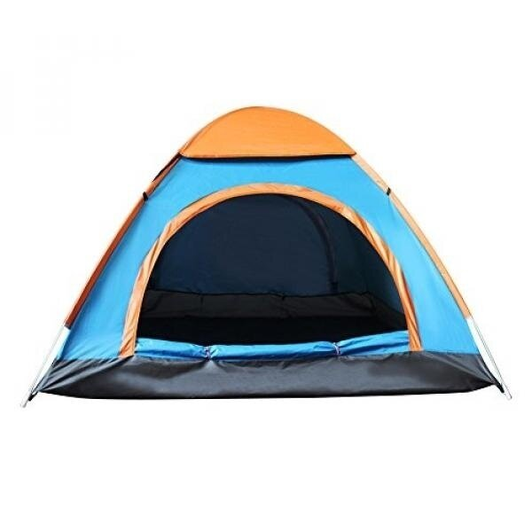 Techcell 2 Seconds Open Pop Up Throw Tent 3-4 Person Tent Hiking Fast Set-Up Camping Instant Tent Waterproof Tent Backpacking Tents for Camping Hiking Traveling (Blue) - intl