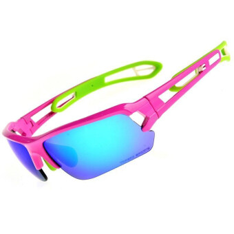 Topeak Sports Pro Cycling Goggles Sunglass Magic Standard (Blue Pink)