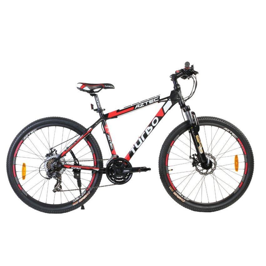 จักรยานTURBO จักรยาน 26นิ้ว รุ่นแอสเท็ค 21สปีด สีดำ-แดง
