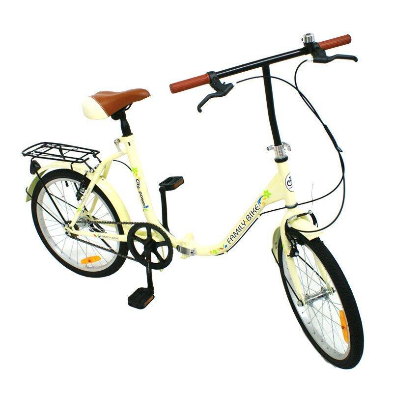จักรยานU-BIKE จักรยานวินเทจพับได้ FOLDING BIKE 20 นิ้ว 1 Speed รุ่น 20F102# 20F1 (สีครีม)
