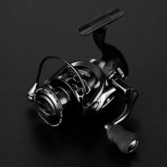 UINN 12+1 Ball Bearings Spinning Fishing Reel CNC Aluminium Spool Spinning Reels black - intl
