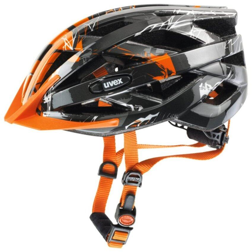 หมวกจักรยาน Uvex Helmet i-vo c Dark Silver Orange Size 56-60 ...