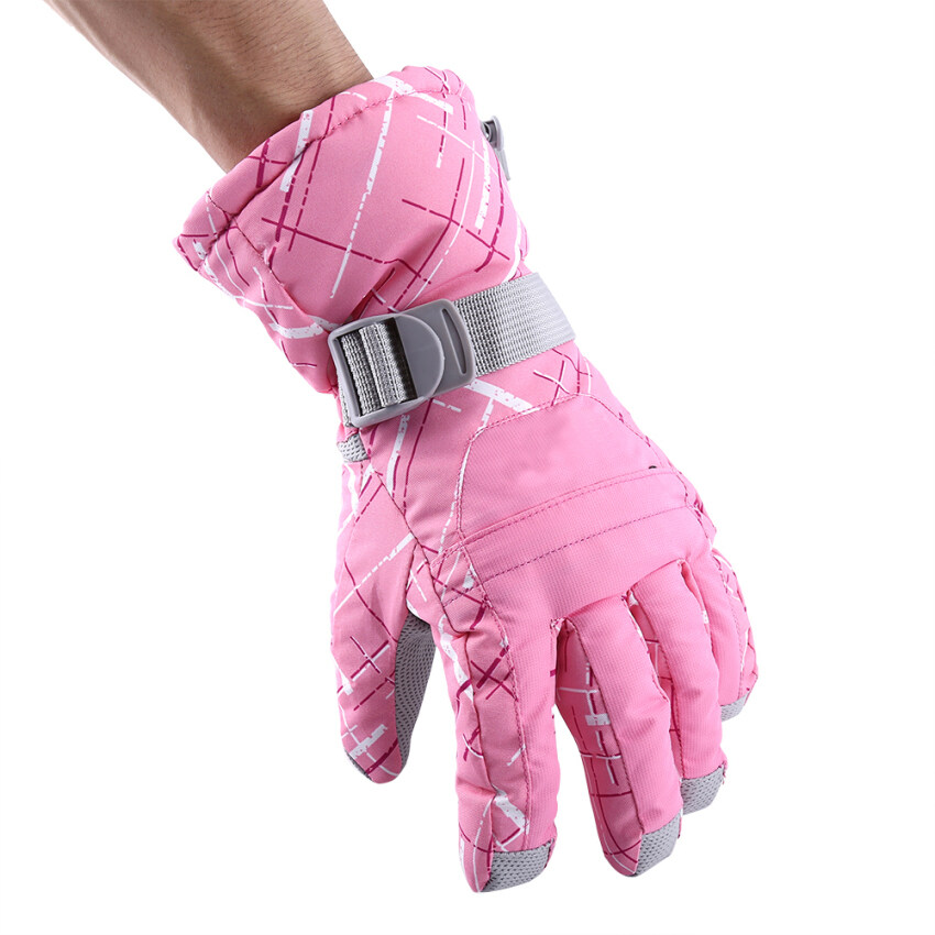 Winter Outdoor Anti-skid Waterproof Skiing Climbing Riding Gloves(pink) - intl ...