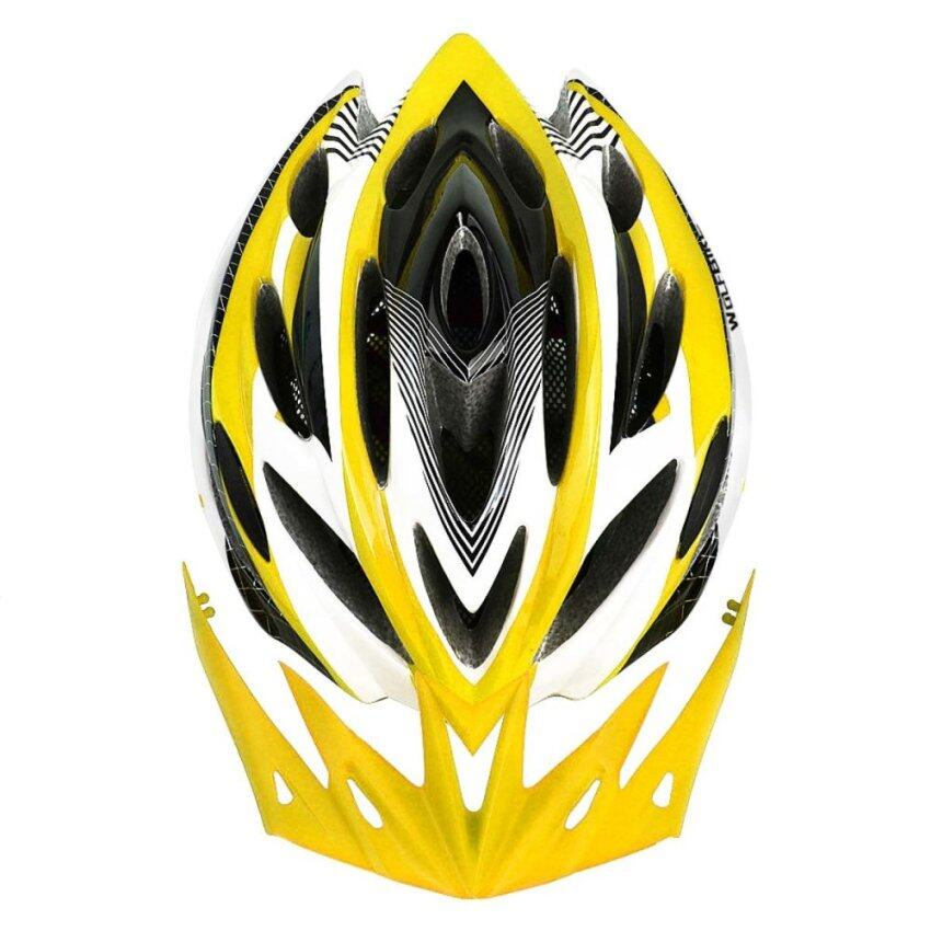 WOLFBIKE Unicase Bicycle Cycling BMX MTB PVC Helmet Yellow ...