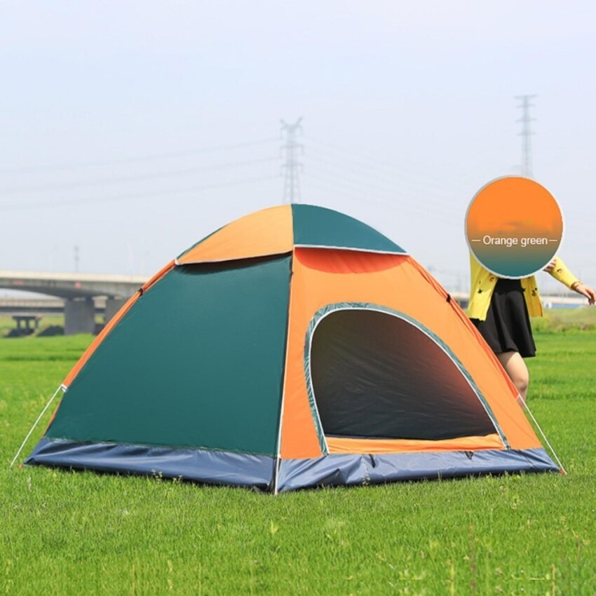 Yika Outdoor camping folding automatic tents double automatic one - door beach tents - intl