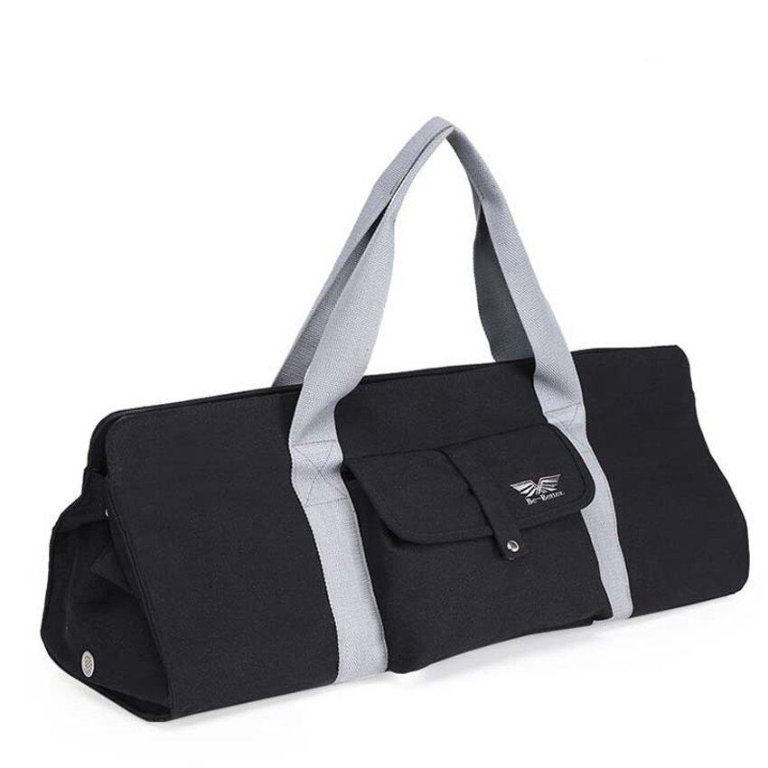 YJS Superior Canvas Yoga Mat Bag Professional Sports Bag (Black) - intl .