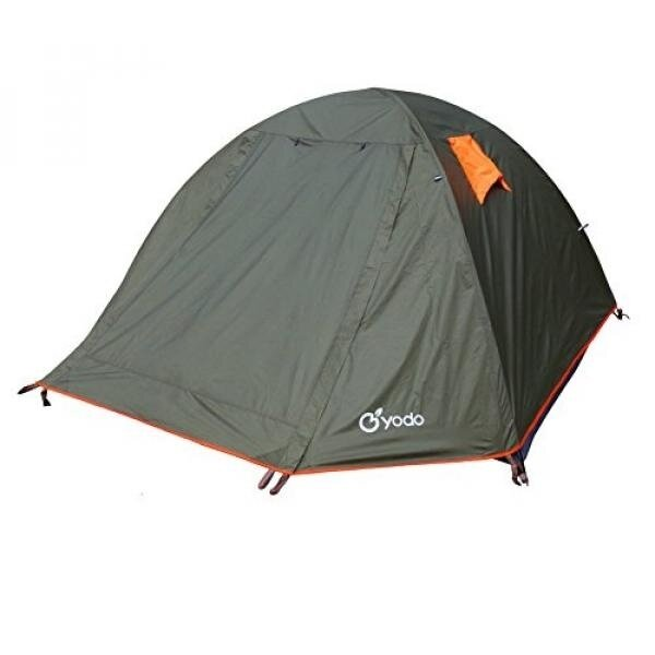 Yodo Spacious 3-Season Waterproof Tent for Camping Backpacking, Double layers with 2 Doors and Rainfly,Olive - intl