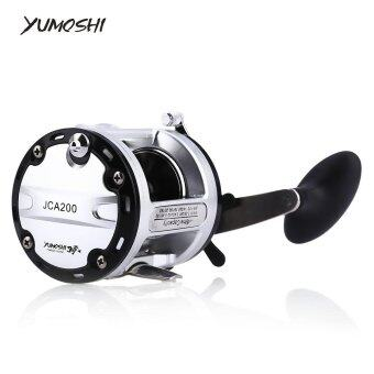 Yumoshi 12 + 1 Ball Bearings Cast Drum Fishing Reel(Colormix) -intl