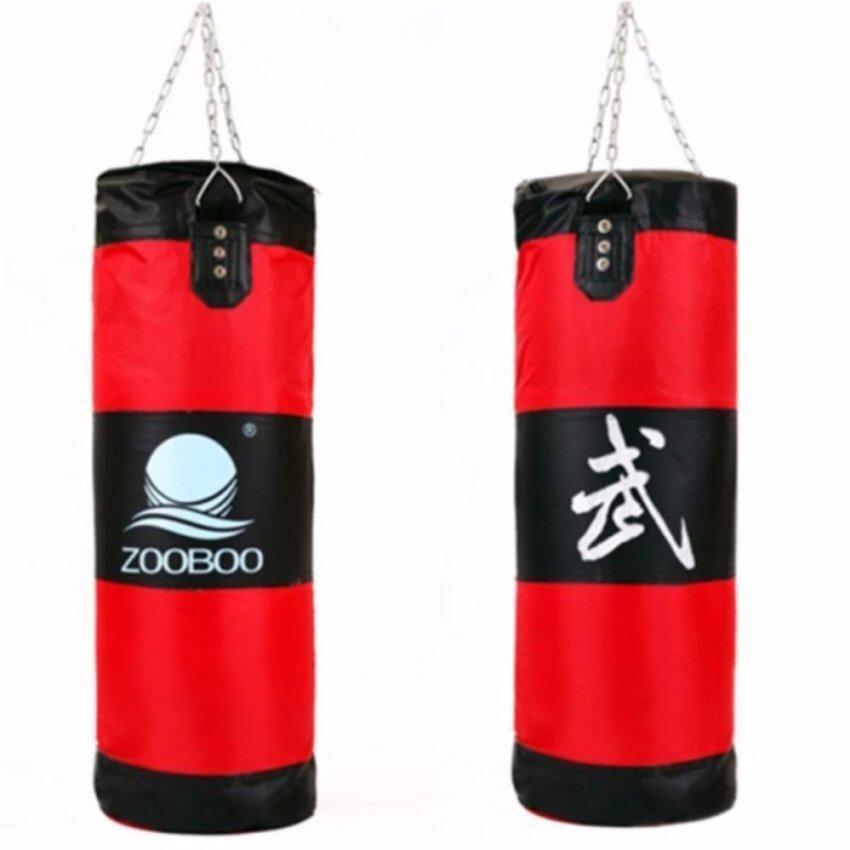 ZOOBOO ถุงทรายล้างมวยเจาะถุงทรายห่วงโซ่การปฏิบัติการฝึกอบรมการต่อสู้ ( สีแดง )