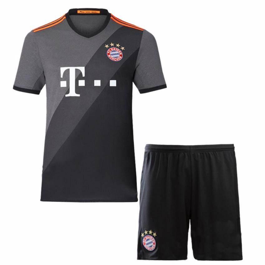 สุดยอด 2016--2017 Bayern football team away socce jersey suit (White) -intl ซื้อเลย