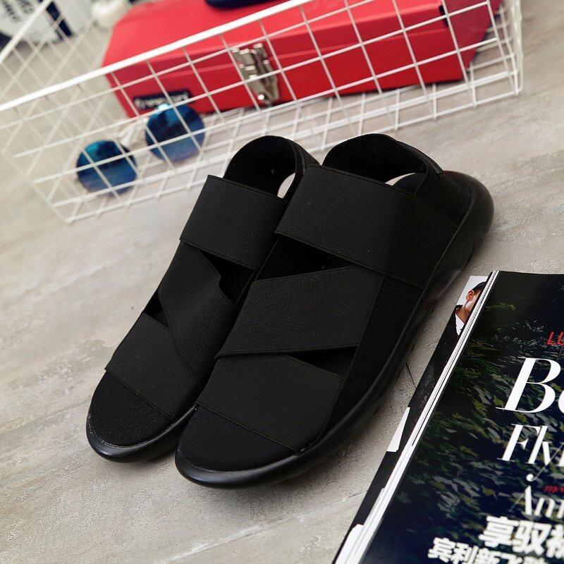 ขายดี 2016 Summer New Men's Outdoor Sandals (Black) – Intl ขายถูก