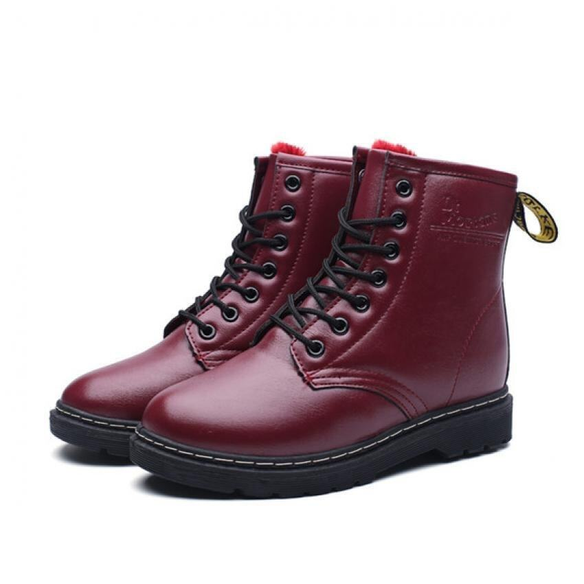 2016 Winter warm cow leather casual boots women fashion increase boots women high qualit ...