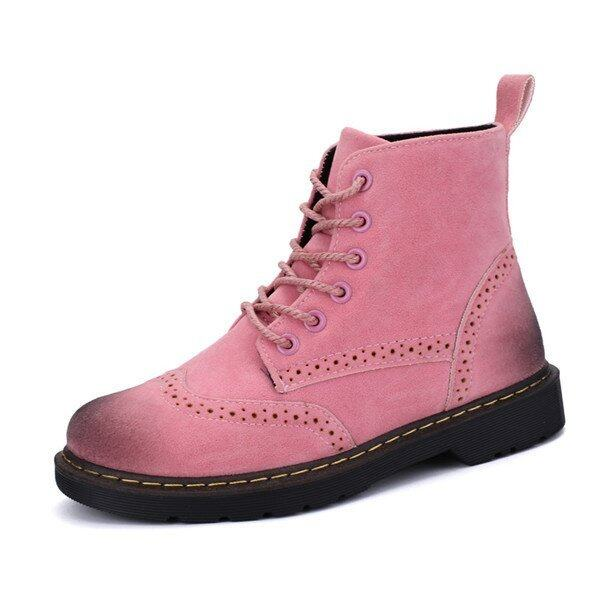 2016 Winter warm Retro boots women fashion boots suede leather women(Pink) - intl ...