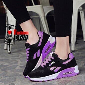 2017 Fashion DIVA รองเท้าสปอร์ตลำลอง สไตล์เกาหลี ลายเส้น