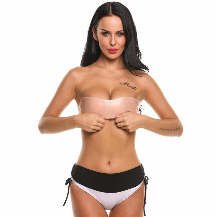 2017 Fashion Woman Self-adhesive Butterfly Wing Silicone Invisible Bra - intl ...