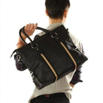 2017 Men's Popular Business Bag Leisure Handbag Practical Shoulder Bags Classic Tote Bag (Black) - intl