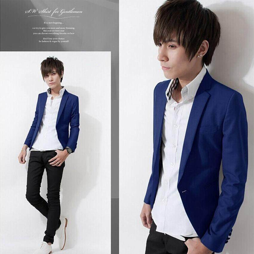 2017 New Arrival Fashion Spring Elegant Slim Fit Men Jacket Casual Business Dress Blazer ...