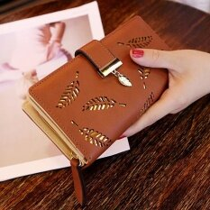 2017 New Style Of Ms. Han Bans Purse Long Style Of Vogue Clutch Lou Empty The Leaf Zipper Take To Button Up Card To Wrap Coffee Color - Intl ราคา 866 บาท(-35%)