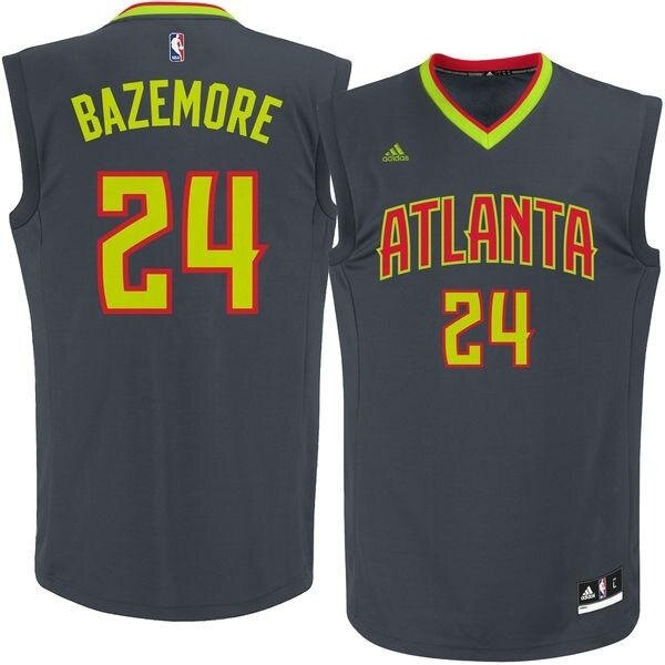 #24 Kent Bazemore NBA Atlanta Hawks Mens Basketball Jersey Top Team color Chase Fashion Adult American Outdoor Set Black s - intl