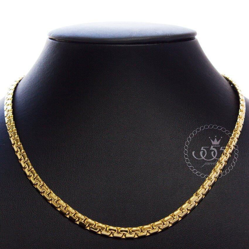 นำเสนอ 555jewelry 316L Chain Necklace สายสร้อยลายโซ่แบบข้อต่อชิด รุ่นMNC-C048-B - Yellow Gold สุดคุ้ม