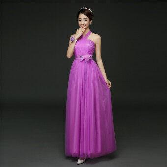 ชุดแต่งงานชุดราตรีชุดเพื่อนเจ้าสาว (568 [ยาว] ถั่วแดงวางสี) (568 [ยาว] ถั่วแดงวางสี)