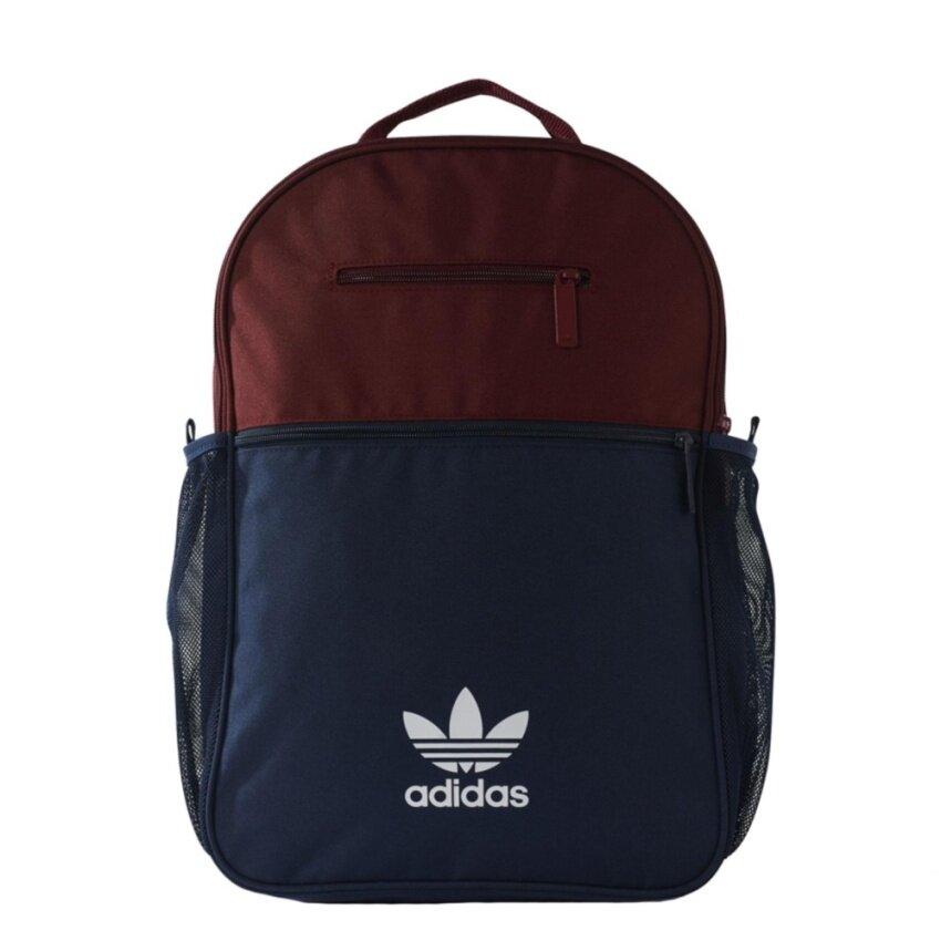 adidas กระเป๋าเป้ ESS Trefoil Backpack BK6719 (Burgundy/Navy)