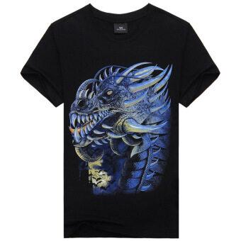 Amazon Mens Short Sleeved T-Shirt Cotton Crewneck T-Shirt Male Shirt Wholesale India Metrosexual T-Shirt