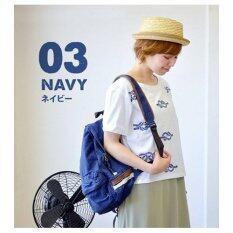 Anello Canvas Backpacks กระเป๋าเป้สะพายหลัง (สีกรมฟ้า Navy)