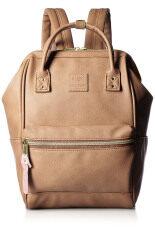 Anello กระเป๋าสะพายหลัง ขนาดเล็ก หนังสีน้ำตาล
