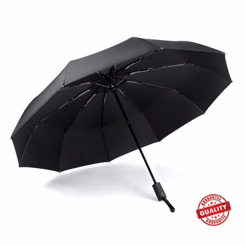 Automatic Travel Umbrella Auto Open Close Compact Folding Windproof Waterproof - intl