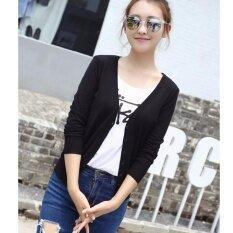 Autumn And Winter Women V Neck Sweater Knitted Cardigan-Black - Intl ราคา 614 บาท(-65%)