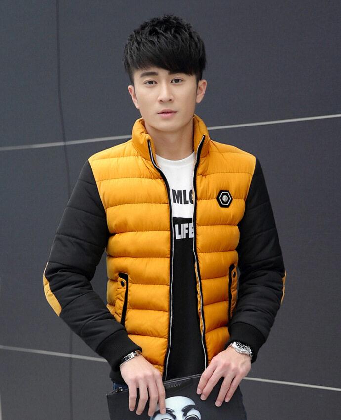 ราคาพิเศษ Autumn Winter Coat Jacket Korean Fashion Young Men Down TrendCotton Jackets Male Warm Coats สำหรับคุณ